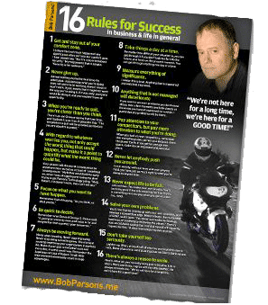 Bob Parsons® 16 Rules for Success in Business and Life in General