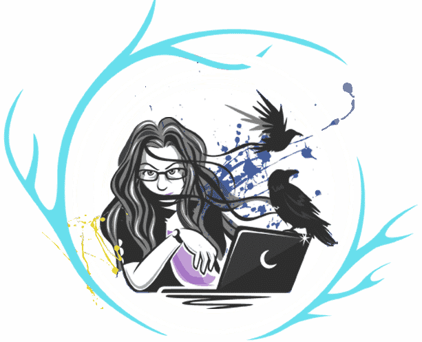Custom Illustration of Freelance Web Designer in Spokane, Heather Wood