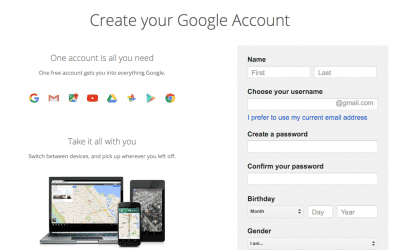 How to properly create a google business account