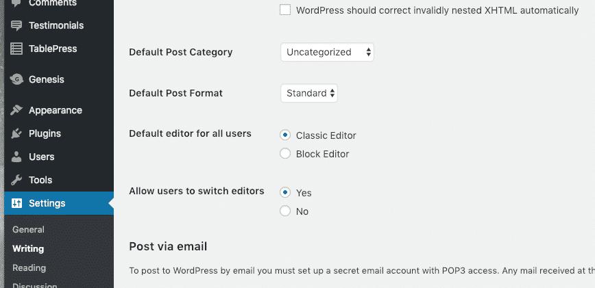 How to fix a wordpress 5. 0 broken website (gutenberg block editor) - screen shot 2018 12 21 at 6. 29. 28 pm
