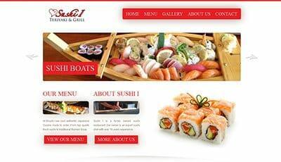 My web design prices - restaurant website