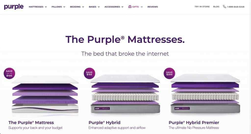 Purple Pillow Website