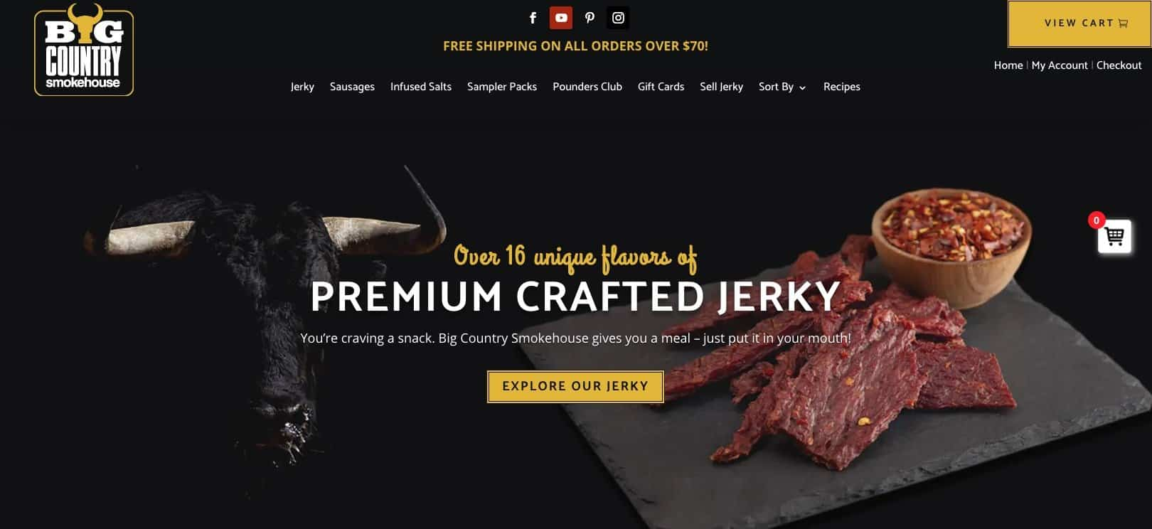 Buy Jerky Online - Big Country Smokehouse
