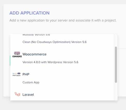 How to add an new php application to cloudways hosting